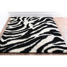 well woven plush black ivory zebra print area rug animal