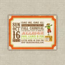 Printable Digital File Harvest Party Invitations Scarecrow Pumpkin