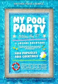 Party Invitation Maker Free Download Pool Party Invitation