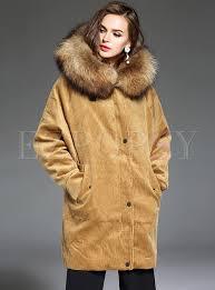 brown hooded winter coats faux fur outdoor parka jacket