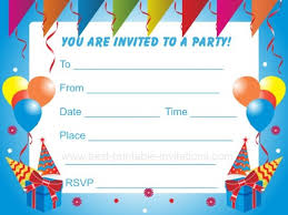 Boy Birthday Party Invitation Templates Free Birthday Party Invitation Template Ingeniocity Co