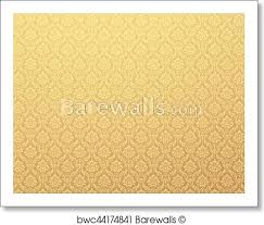 Gold Damask Background Gold Damask Pattern Background Art Print Poster