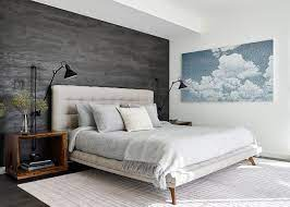 Bedrooms with Gray Accent Walls: Modern ...