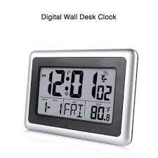 lcd digital wall clock snooze home