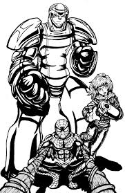 stan lee tribute spiderman and heroman by kabalyero