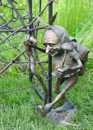 elf garden statue garden or yard outside and outdoor by titled bronze imp elf troll pixie elf garden statue