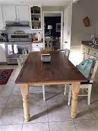 to refinish a hampton s farmhouse table
