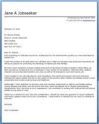 cover letter social work examples job seeking cover letter