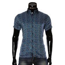Pattern Shirts Beauteous Men's Blue Shirt 4848 With Print Shop For Shirts For Men Online