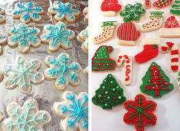 frosted christmas sugar cookies. Frosting The Best Sugar Cookies In Frosted Christmas