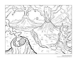 Printable volcano coloring pages are a fun way for kids of all ages to develop creativity, focus, motor skills and color recognition. Volcano Coloring Pages