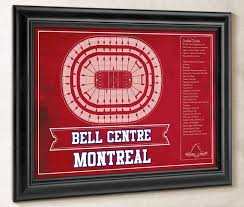 Montreal Canadiens Bell Center Seating Chart Montreal Canadiens Bell Centre Seating Chart Vintage Hockey Print