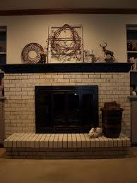 brick fireplace paint painting a brick fireplace with chalk paint concrete masonry fireplaces mantels home decor brick fireplace paint