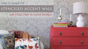 how to stencil 101 painting an accent wall with wall stencils and chalk paint you