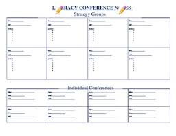 Literacy Conference Notes Template By Lauren Cardillo Tpt