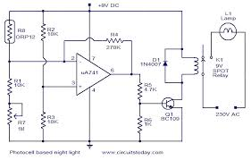 photocell based night light electronic circuits and diagram contactor and photocell wiring diagram at Wiring Diagram For Photocell Light