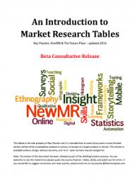 Research Tables An Introduction To Market Research Tables Request For