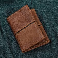 artisan crafted leather wallet in brown from mexico sleek design in brown