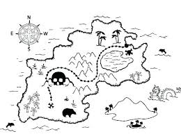 Treasure Coloring Pages Pirate Map Coloring Page Map Coloring Pages