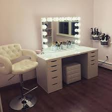 who else wouldn t mind having a glam sesh with makeupbymariekatz using this beyond gorgeous vanity station featured and ikea alex drawers and linnmon