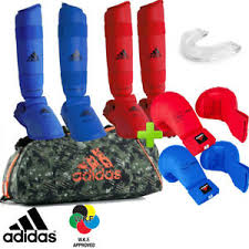Adidas Chest Protector Sizing Chart Details About New Full Red Blue Adidas Karate Wkf Competition Sparring Gear Set W Bag