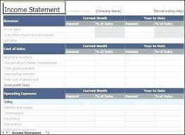 Income Statement Format Excel Income Statement Template Excel Quarterly Income Statement Excel
