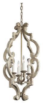 kichler 43255daw hayman bay distressed antique white mini candle chandelier loading zoom