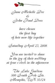 Sample Of Wedding Invatation Wedding Invitation Wording Samples