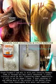 Note Vitamin C Will Remove Color
