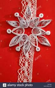 Detail Papier Quilling Auf Handgefertigte Weihnachtskarte