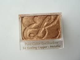 estee lauder pure color eyeshadow 52 sizzling copper metallic review