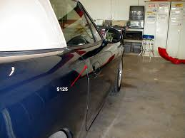 paintless dent repair is much er and faster than having your car painted because we don t need to fill sand and paint your car give us a call