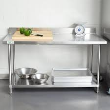 Stainless Steel Work Table With Backsplash Beauteous Regency 48 X 48 48Gauge Stainless Steel Commercial Work Table