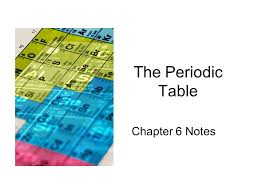 The Periodic Table Chapter 6 Notes. History of the PT Dobereiner ...