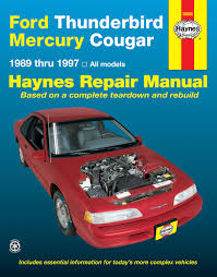 ford thunderbird mercury cougar 1989 1997 haynes repair manual enlarge ford thunderbird