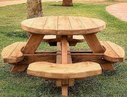 image of folding wooden picnic table