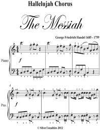 hallelujah piano sheet music hallelujah chorus the messiah easy elementary piano sheet music