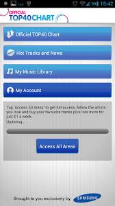 Top 40 Music Charts 2012 Official Top40 Chart App By Samsung Uk Only Land Of Droid