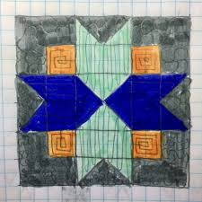 Free Pattern :: North Star Block — String and Story & Quilting Plan Auditions for my North Star Block by HollyAnne Knight of  String and Story Adamdwight.com