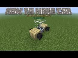 how to make a car in minecraft. Simple Minecraft 18 How To Make A CarBusTrain In Minecraft That Moveu0027s With To A Car In P
