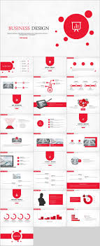 Red Ppt 29 Red Creative Business Design Powerpoint Template On