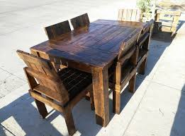 easy diy outdoor dining table. wooden pallet dining table and chairs set easy diy outdoor