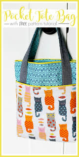 Tote Bag Sewing Pattern Mesmerizing How To Make A Tote Bag With Pockets Library Bag Tutorial Free