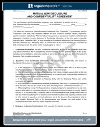 Non-Disclosure (Confidentiality) Agreement - Create An Nda