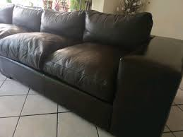 used very big rochester full leather couch