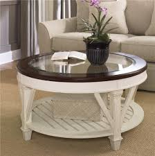 ... White Cottage Wood IKEA Round Coffee Table With Glass Top Insert  Designs Ideas For ...