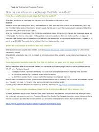 Guidelines For Referencing Electronic Sources Citation Digital