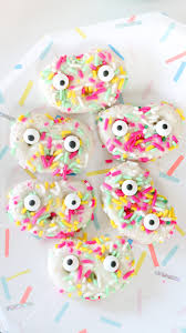 cute funfetti pretzel monster snack recipe how to throw a colorful party with