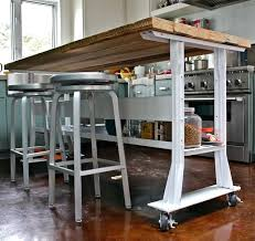kitchen island cart industrial. Island Tables For Kitchen Chic Rolling With Seating Industrial Pipe Cart