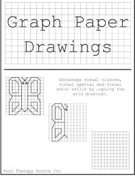 Graph Paper Draw Graph Paper Drawings Freebie Your Therapy Source